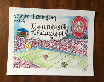 Ole Miss watercolor
