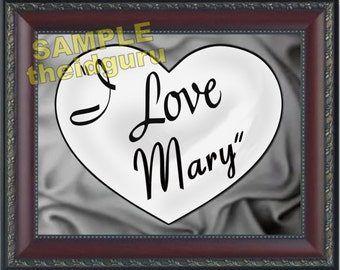 I Love Lucy themed Personalized Print >>>Framed 13.5 x 11<<< COMES WITH FRAME - Ships Priority Mail - Custom printed with any Name you want