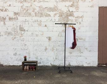 Industrial Clothing Rack - 2 Way