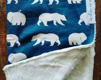 Baby + Organic Blanket - Blue Bear