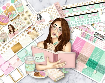 ULTIMATE Weekly Kit / Plan In Gold / Planner Stickers / Hand Drawn /  Fits Erin Condren Vertical & MAMBI