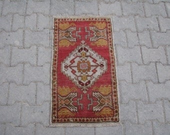 TURKISH DOORMAT RUG, Bath Matt Rug, Turkish Oushak Doormat, Small Size Turkish Rug, Turkish Rug Doormat, Turkish Rug Bath Mat, Welcome Rug