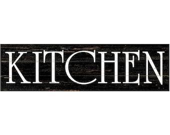 Kitchen Wall Sign- Kitchen Sign- Black Kitchen Sign