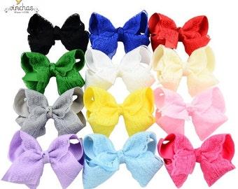 Hair bows,bow lace, lace clip, baby hair bows, baby bow, baby girl bow, bow, bows, baby set, lace bow set, gross ribbon bow, custom headband