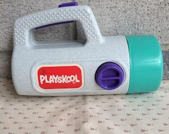 Playskool flashlight, Vintage Playskool Flash Light, 80s toy Flashlight