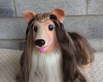 Vintage 1989 Hasbro Large Sweetie Pups Collie