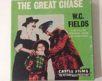 Vintage Super 8mm Film Reel Complete Edition The Great Chase WC Fields Black and White Comedy Movie #813 Castle Films