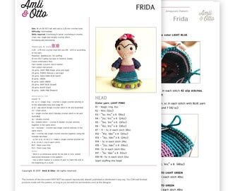 FRIDA AMIGURUMI - Crochet Pattern