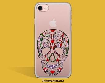 Sugar Skull iPhone Case, Floral iPhone Case, Skull iPhone Case, Halloween iPhone Cover, Sugar Skull iPhone Case, Skull iPhone 6 Case
