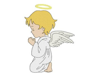 angel machine embroidery design, design for kids, fill embroidery design, instant download