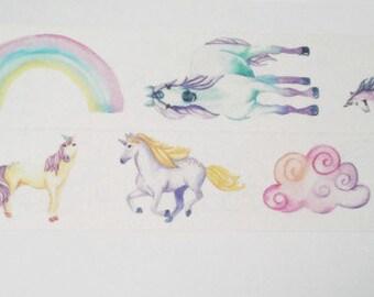 Design Washi tape Unicorn Rainbow fantasy