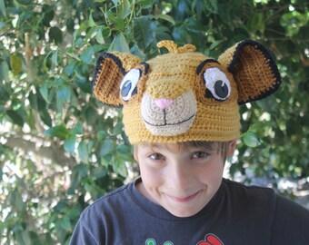 Lion King SIMBA hat, Kids LION guard beanie hat, Kids Simba HAT, Simba Beanie Hat, The Lion King Simba hat
