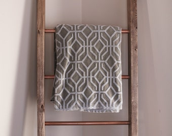 Copper and Wood Blanket Ladder