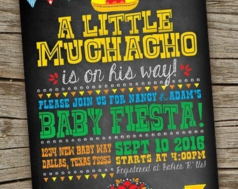 fiesta baby shower invite fiesta chalkboard invitation fiesta baby shower mexican fiesta baby
