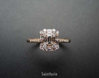 0.5 Carat Diamond Engagement Ring Diamond Rose Gold Ring