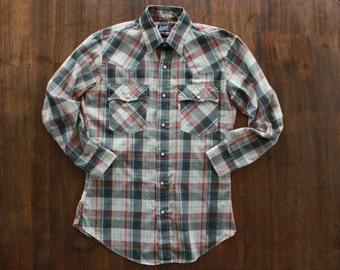 Plaid Levis Western Shirt