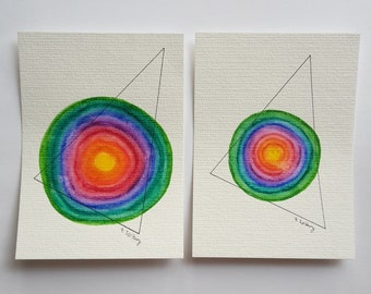 "postcard set ""coloured geometry"""