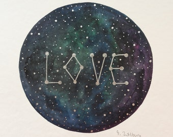 "original painting ""galactic love"""