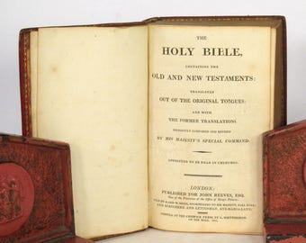 1811- Bible - The Holy Bible, Containing the Old Testament and the New: Translated Out of the Original Tongues - RARE - John Reeves - LONDON