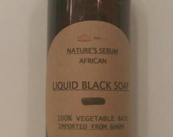 African Liquid Black Soap - 4 oz