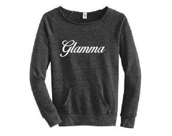 glamma sweatshirt, glamma shirt, grandma gift, grandchildren, proud grandma, personalized sweatshirt, Idaho  Embroidery, custom shirts