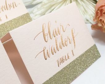 Wedding place cards/place cards/escort cards/ place cards wedding/calligraphy/wedding calligraphy/gold place cards/blush place cards