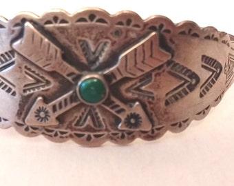 Sterling Native American Arrow cuff bracelet