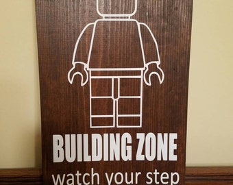 """Lego Building Zone Wall Hanging 11""""x18"""""""