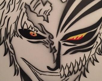 Bleach Ichigo Zangetsu Mask Anime Spray Painting (Zanpakuto spirit 斬月)