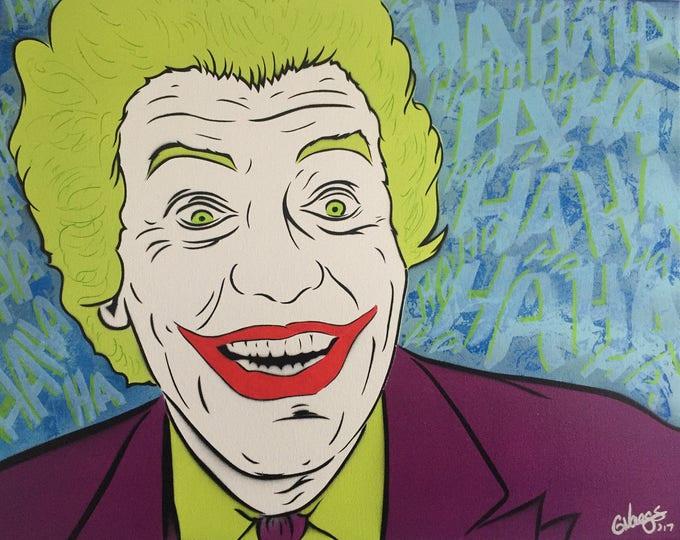 Featured listing image: Original Joker Spray Painting SALE PRICE (16x20)