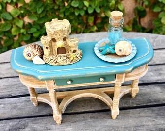 Beach sideboard, dollhouse sideboard, miniature dining room furniture