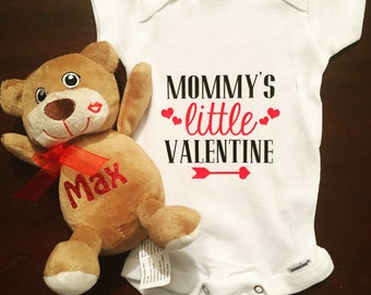 Mommy's Little Valentine Onesie baby new mom Valentine's Day cupid gift love february heart