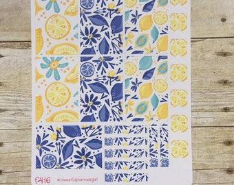 Lemon Floral Weekly Layout for New Release Big HP Planner Stickers F416