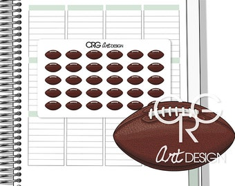 American Football Stickers | Planner Erin Condren Plum Planner Filofax Sticker