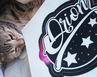 Orion Vinyl Sticker-Orion constellation-Stars-space-sky