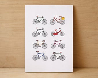 Retro Bicycle Limited Edition Print
