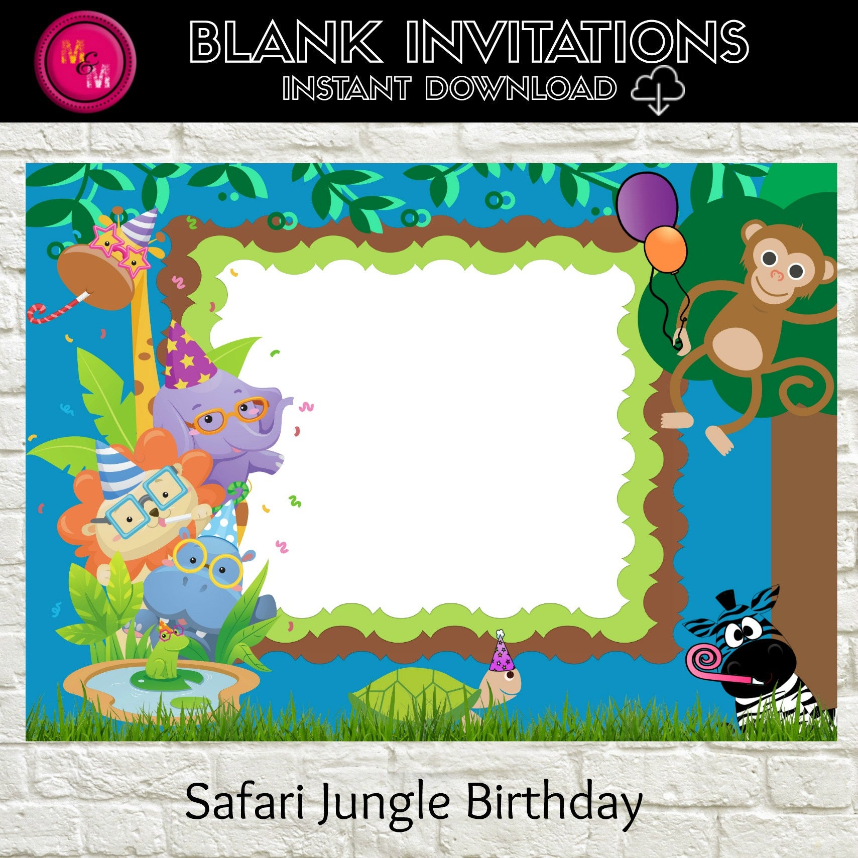 Elmo Pool Party Invitation BlankInstant Download Template – Free Printable Elmo Birthday Invitations