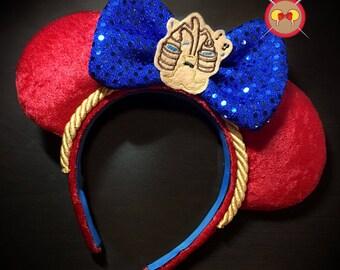 Sorcerer's Apprentice Inspired Mickey Ear Headband with Magic Broom Feltie - READY TO SHIP