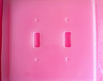 Beveled Double Light Switch Plate Cover Flexible Plastic Resin Mold For Resin