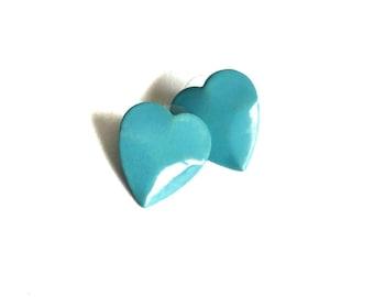 Baby Blue Heart Shaped Earrings