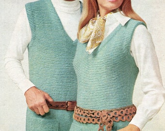 Vintage Robin Hood Tunics for Men & Womem Knitting Pattern PDF Instant Download