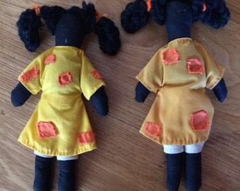 Vintage Hand Stitched Black Dolls