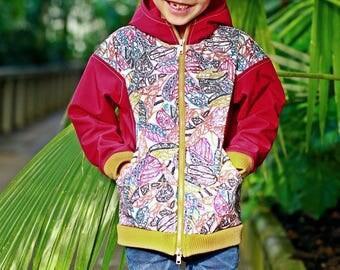 Warm bomber jacket/Boys and girls hoodie/Kids hooded jacket/Zipper jacket/Hood jacket/Sweatshirt jacket/Toddlers hoodie jacket/Warm jacket