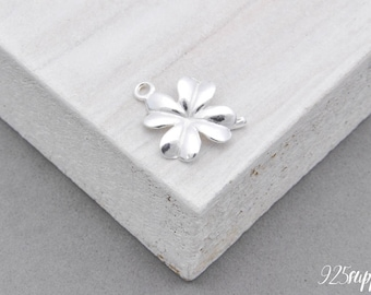 925 Sterling Silver clover pendant clover pendant necklace clover, clover element, clover, element jewelry, clover jewelry, brings luck,