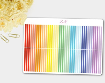 Divider Stickers for Planners in Rainbow Colors