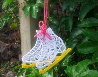 Figure Skates /free standing lace Ornament