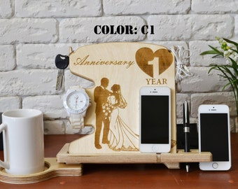 First anniversary gift for husband anniversary gift ideas valet box valet stand cable organizer