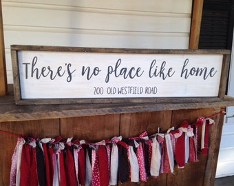 There's no place like home, hand painted wood sign, country home decor, gift for Mom, housewarming gift, realtor gift