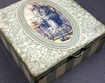 Handmade Decoupage Vintage Box