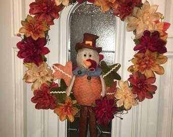 Gobble gobble! Turkey Wreath